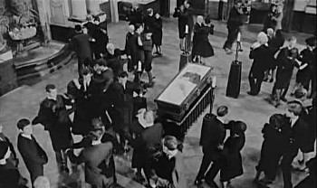 The funeral scene