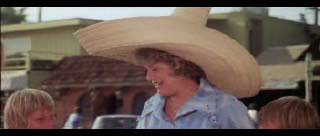 Shelley Winters and her big ugly hat, take one.